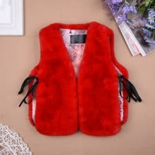 -Newest Child Vest Sleeveless Warm Coat Fur Waistcoat Kids' Cotton-Padded Clothes for Autumn And Winter on JD