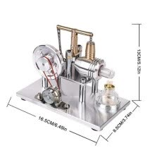 -Hot Air Stirling Engine Motor Model Educational Toy Electricity Generator on JD