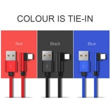 -3FT Elbow Nylon Braided Cable Cord For Type-C Micro USB For IPhone/iPad/iPod on JD