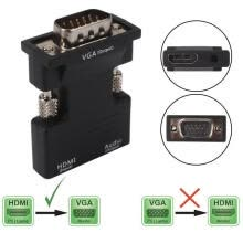 -HDTV HDMI Female to VGA Male adapter Cable 1080P Stereo Audio Output connector cable on JD