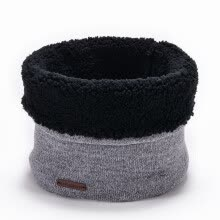 -Men Knitted Wool Scarf Neck Winter Warmer Cowl Collar Circle Crochet Scarf on JD