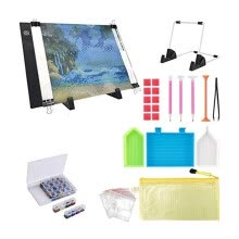 -Smartbrave 30PCS Diamond Painting A4 LED Light Pad Kit,DIY Dimmable Light Brightness Board on JD