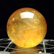 -1pcs 40mm Natural Citrine Quartz Crystal Sphere Ball Healing Gemstone on JD