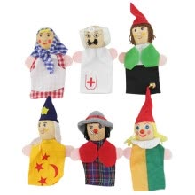 -6Pcs Finger Even Storytelling Good Toys Hand Puppet For Baby's Gift on JD