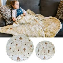 blankets-throws-Realistic Food Taco Burrito Tortilla Blanket Soft Flannel Wrap Novelty Throw Blanket for Adults, Babies and Children Round on JD
