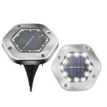 -12LED Solar Lights Underground Buried Garden Lawn Deck Roadway Outdoor Wall Lamp on JD