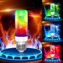 projector-accessories-1pc 4 Modes E27 LED Flame Effect Fire Light Bulb Flickering Lamp Christmas Decor (Four colors to choose from) on JD