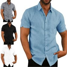 -Summer Fashion Men's Casual Dress Slim Fit Shirt Short Sleeve Shirts Tops Tee on JD