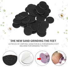 -60Pcs Foot Skin Foot Clean Scruber Hard Skin Remover Pedicure Sand Tablets on JD