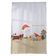 -Loy Christmas  Curtain Tulle Window Treatment Voile Drape Valance 1 Panel Fabric on JD