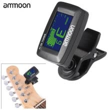 -ammoon AT-02 Electric Tuner Clip-on Three Colors Backlit Screen for Guitar Chromatic Bass Ukulele Universal Portable on JD