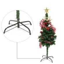 -Christmas Tree Stand Green Metal Holder Base Cast Iron Stand 4 Feets Decoration on JD