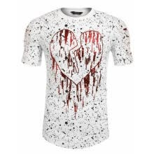 -Men Short Sleeve Print T-shirt Hollow Personality Basic Tee Casual Tops on JD