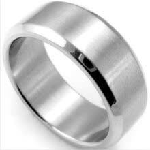 -Size 5-14 Stainless Steel Rings Men Women Wedding Band Silver Black Gold Rose 8mm Ring on JD