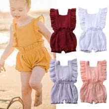 diving-Newborn Infant Baby Girl Lace Hollow Out Romper Jumpsuit Sunsuit Outfit Playsuit Clothes 6M- 5Years on JD