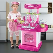 -Multifunctional Children Play Toy Girl Baby Toy Large Kitchen Cooking Simulation on JD