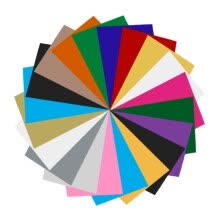 -Wonawenie Heat Transfer Vinyl 20 Pack Assorted Colors 30*40cm Sheets for Iron T-Shirts on JD