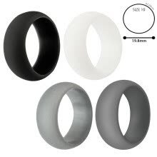 -MIARHB 4-Pack Silicone Wedding Ring Men / Women Rubber Band Flexible Lifestyle on JD