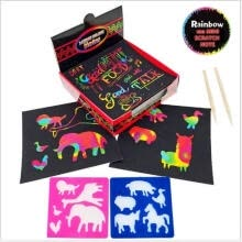 painting-calligraphy-100PCS Holographic Rainbow Paper Children's Creative DIY Painting Doodle Art on JD