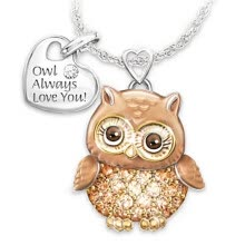 -Owl Love You Luxury Simulated Diamond Pendant Elegant Necklace Jewelry Gift on JD