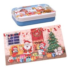 -Christmas Wooden DIY Small Gifts Children Hand Made Santa Puzzle Jigsaw Puzzle on JD