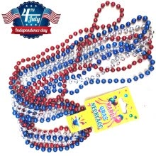 -Patriotic Metallic Star Bead Necklaces Fourth/4th of July Party Favors on JD