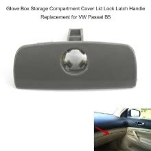-Glove Box Storage Compartment Cover Lid Lock Latch Handle Replacement for VW Passat B5 on JD