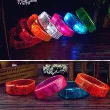 -Sound Controlled Voice LED Light Up Bracelet Activated Glow Flash Bangle on JD