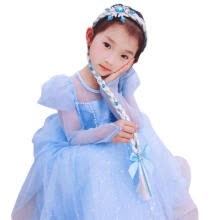 hair-removal-cream-Girls Cosplay Princess Braid Headwear wig headband children braid  long hair headband snowflake rhinestones on JD