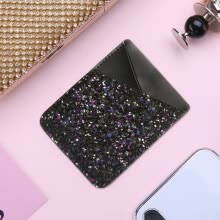 -Colorful Adhesive Sticker Card Holder Back Cover Phone Pouch Case For Samsung S9 S8 S9 Plus For iPhone X 8 7 Plus on JD