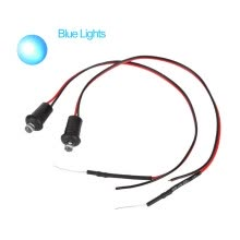 -1 Pair 12V Red Flashing Dummy Fake  Signal Lamp LED Light Replacement Portable Car Alarm Dash Mount on JD