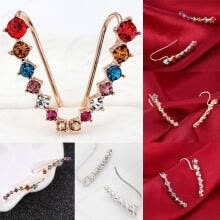 -1 Pair Fashion Women Lady Elegant Crystal Rhinestone Ear Stud Earrings Charms on JD