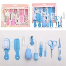 -Baby Newborn Health Care Set  Nail Hair Brush Thermometer Kids Grooming Kit 10pcs on JD