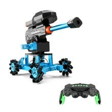 -K7 RC Robotic Car Aluminum Alloy Remote Control Robot 2.4Ghz with Wheels DIY Building Toy for Kids Emission Water Ball on JD
