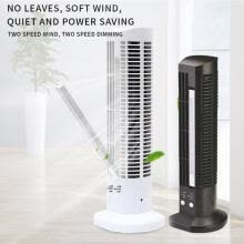 -LED portable space-saving mini tower fan fast adjustable air conditioning fan on JD