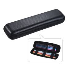 -Pen Pencil PPT Pointer Holder Makeup Brush Bag EVA Hard Shell Case Stationery Pouch Box Black on JD