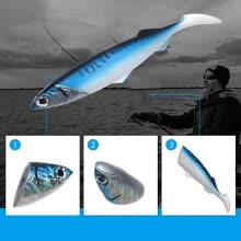 -【MIARHB】13 Inch 560g Swimbait Sinking Soft Bait Lures with Lifelike Skin 3D Eyes on JD