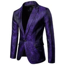 -Men Formal Slim Fit One Button Suit Blazer Business Coat Jacket With Pocket Pullover New on JD