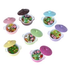 -Dollhouse Kitchen Accessories Miniature 1:12 Mini-color soup pot on JD