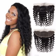 -Nami Hair Brazilian Remy Hair Loose Deep Wave 13x4 Lace Frontal Closure Free Part Ear To Ear 100% Human Hair Closure on JD