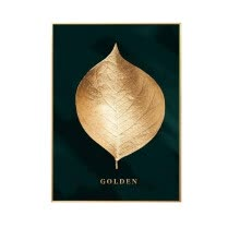 -Golden Plant Leaves Photo Poster Decorative Painting Mural Modern Print Painting Art Aisle Poster Home Living Room Decoration on JD