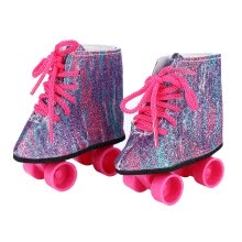 -Doll Roller Skates Skating Shoes for 18 Inch Doll Shoes Clothes Accessory Children Birthday Gift on JD