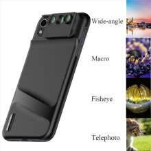 -Camera Lens Fisheye Wide-angle Telephoto Macro Case Cover 6 in 1 For iPhone XR on JD