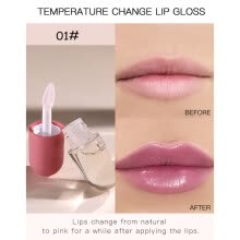 -3-color Natural Lip Gloss Mini Capsule Design Full Lip Gloss Transparent Lip Gloss Temperature-varying Lip Gloss on JD