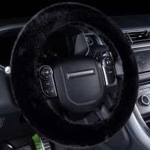 steering-wheel-covers-BOOST Plush Steering Wheel Cover Car Winter Warm Car Handle Cover Plush Unisex Fleece Universal Grey on JD