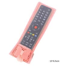 -TureClos Bowknot Decor Dust-proof TV Air Conditioner Remote Controller Protector Lace Fabric Case Cover on JD