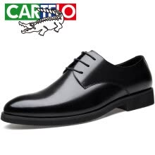 -Cartier crocodile (CARTELO) British men's shoes suede leather business dress shoes casual classic low cut lace leather shoes 8238 black 41 on JD
