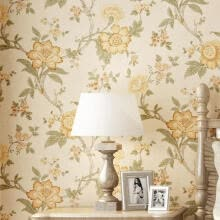 -Vintage Floral Wallpaper Flower Home - 21 x 394 Inches, 3D Wallpaper Sticker Fi on JD