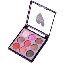 -Mnycxen Eyeshadow Cosmetics Set With Brush 9 Colors Eye Makeup Palette on JD