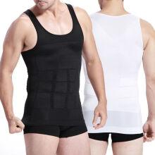 7c634185adf SLIMBELLE Men s Slim Body Shapewear Tank Top Underwear Shirt Tummy Control  Belly Slim Tops